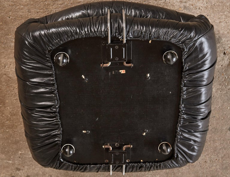 Leather Soriana Ottoman by Afra & Tobia Scarpa for Cassina, Italy, 1970s For Sale