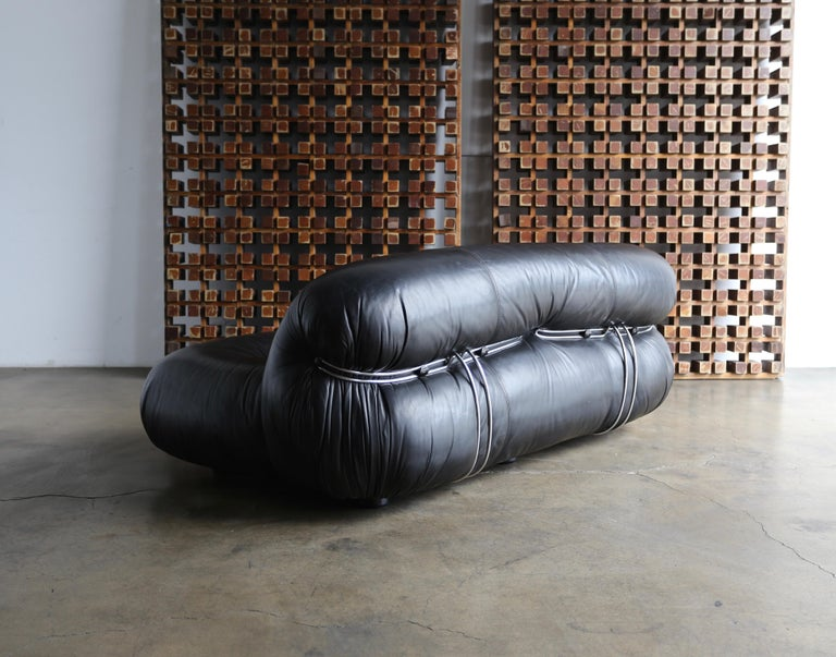 Soriana Settee by Afra & Tobia Scarpa for Cassina For Sale 5
