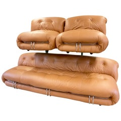 Soriana Sofa and Two Lounge Chairs, Design Tobia Scarpa for Cassina