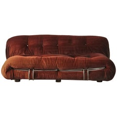 Soriana Sofa by Afra & Tobia Scarpa, Italy, 1970s, for Reupholstery