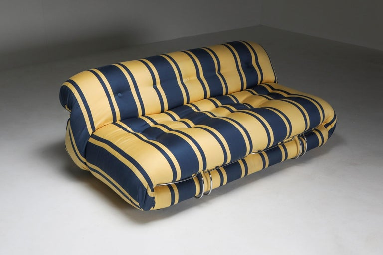 Late 20th Century Soriana Two-Seat Sofa by Afra e Tobia Scarpa for Cassina For Sale
