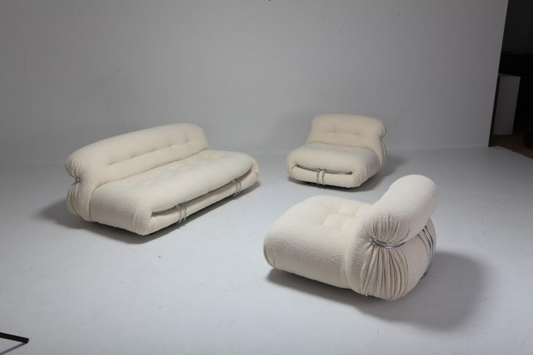 Soriana Two-Seat Sofa by Afra e Tobia Scarpa for Cassina 2