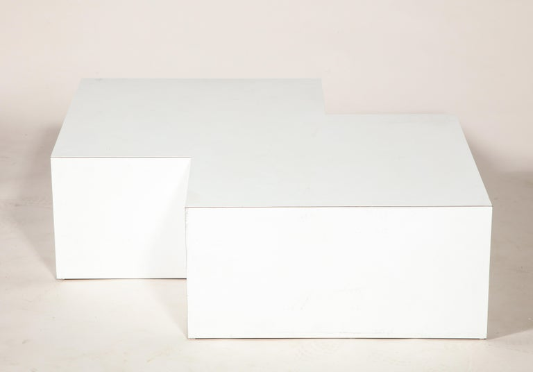Sormani, Claudio Salocchi Palone White Leather Sectional Sofa, Italy, 1970s For Sale 1