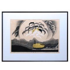 Sosaku Hanga, Japanese Woodblock Print by Reika Iwami