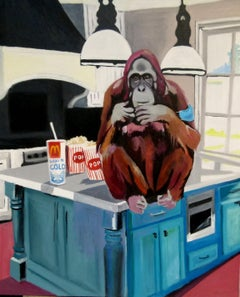 Monkey, Painting, Oil on Canvas