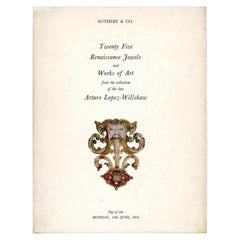 Sotheby & Co., Twenty Five Renaissance Jewels and Works of Art, Sale Catalogue