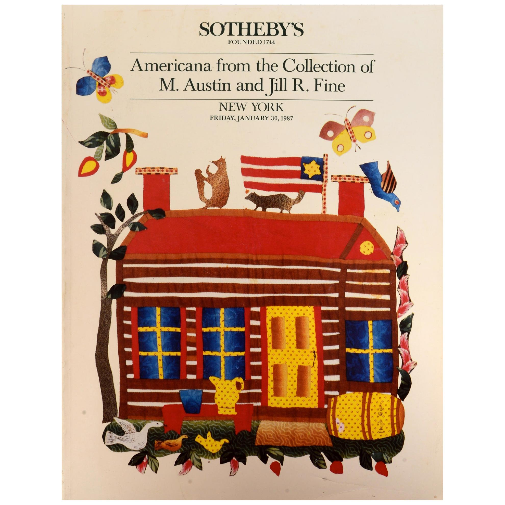 Sotheby's: Americana the Collection of M. Austin & Jill R. Fine, 1/1987