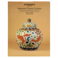 Sotheby's Important Chinese Ceramics from the J. M. Hu Family Collection, 1985