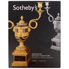 Sotheby's: Important English Furniture including the Horlick Collection