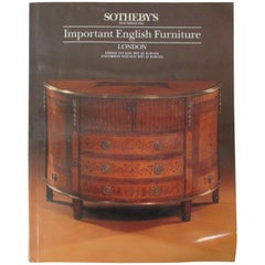 Sotheby's Important English Furniture (London, Friday 1st May and 8th May 1987)