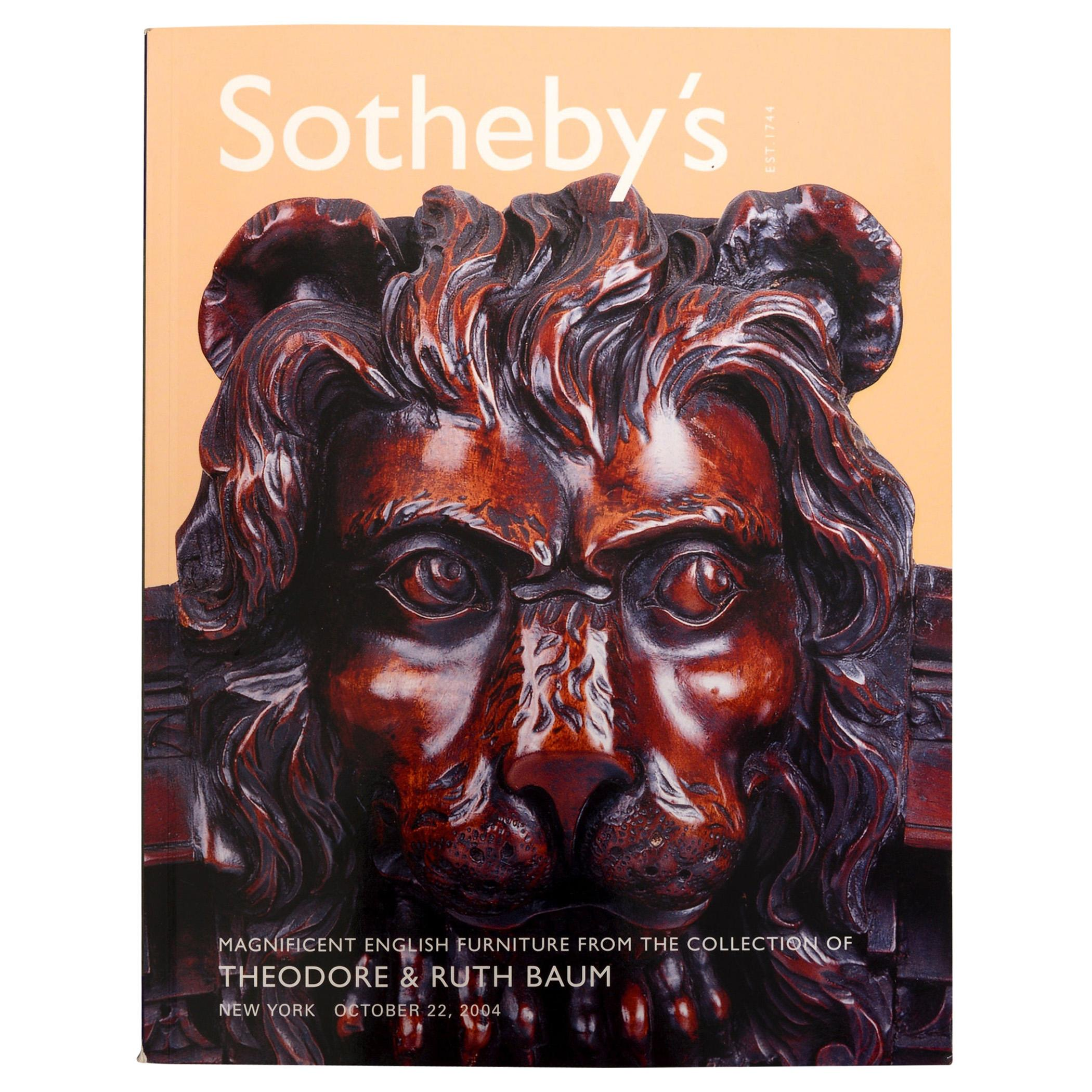 Sotheby's Magnificent English Furniture from the Collection of Theodore Baum