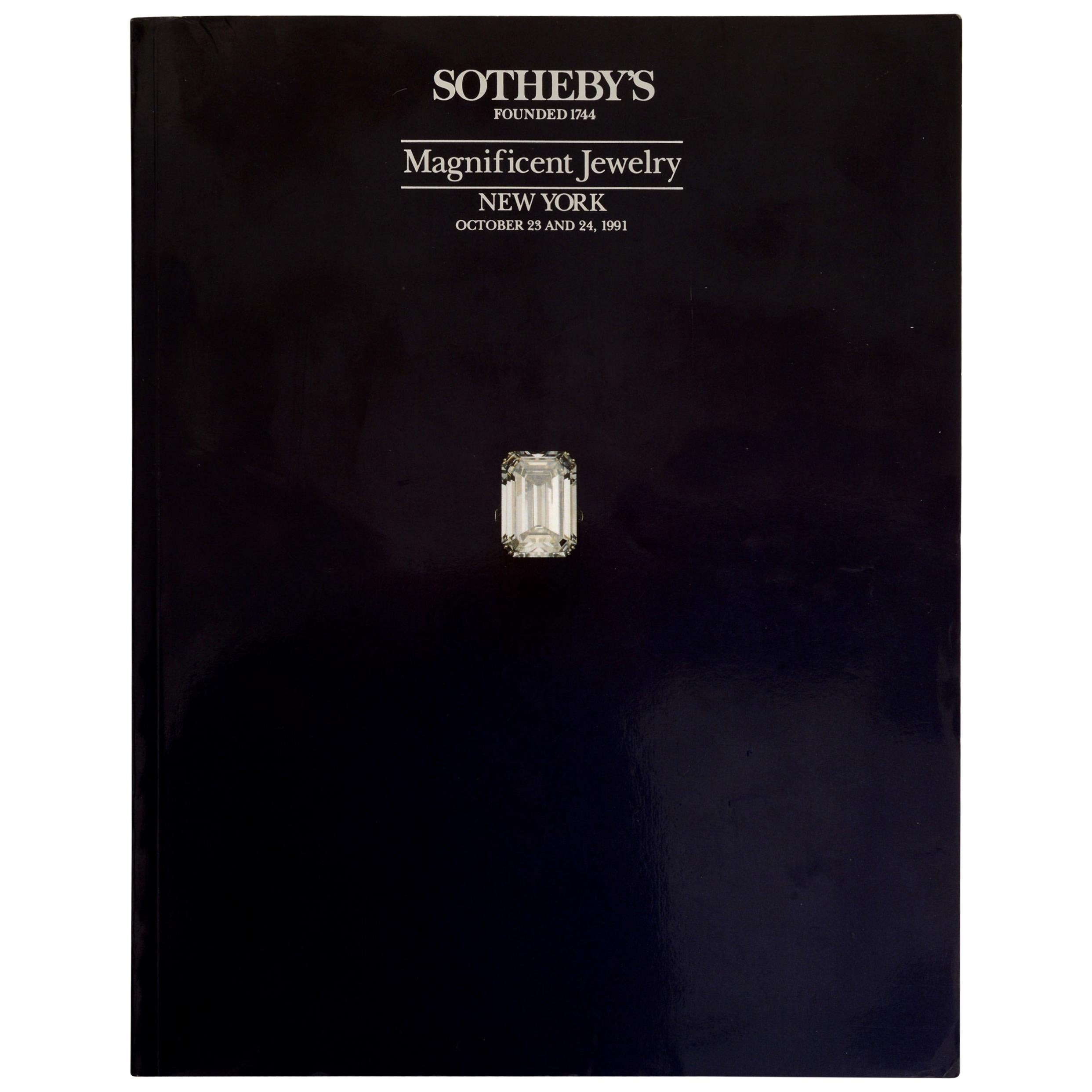 Sotheby's Magnificent Jewelry New York October 23 and 24, 1991