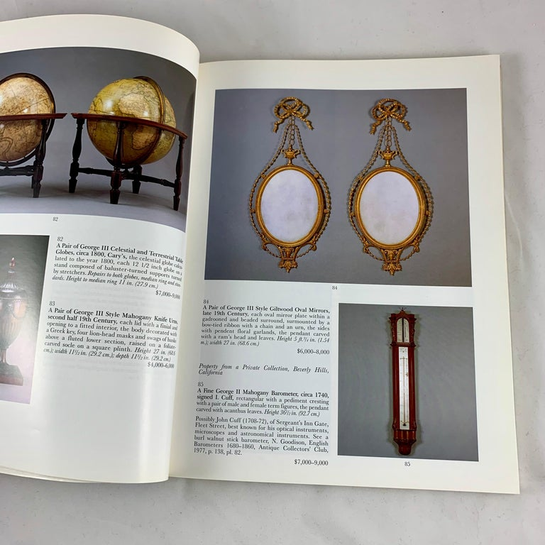 American Sotheby's NY Auction Catalogue, Important English Furniture & Decorations, 1996