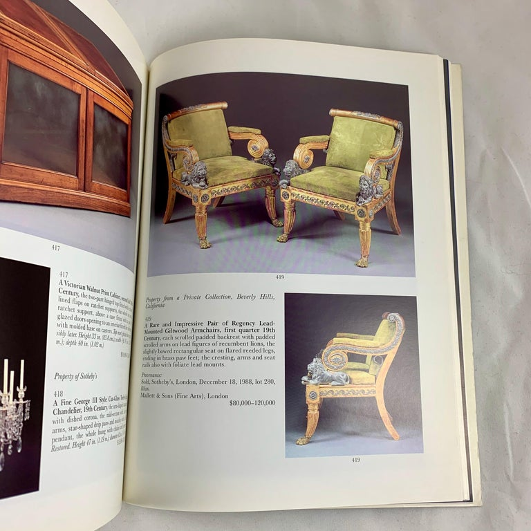 Late 20th Century Sotheby's NY Auction Catalogue, Important English Furniture & Decorations, 1996