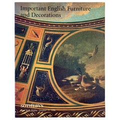 Sotheby's NY Auction Catalogue, Important English Furniture & Decorations, 1996