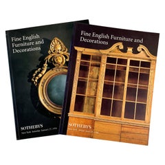 Sotheby's NY Auction Catalogues, Fine English Furniture & Decorations, Set of 2