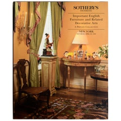 Sotheby's NY Important English Furniture & Related Decorative Arts, 1995