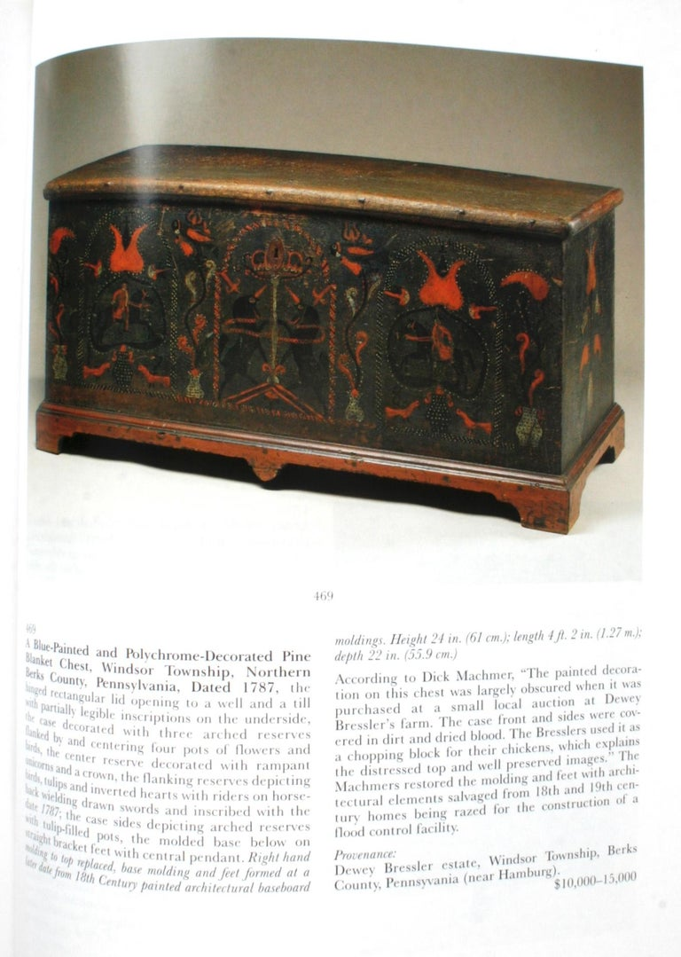 American Sotheby's, Pennsylvania-German Folk Art, Decorative Arts and Furniture For Sale