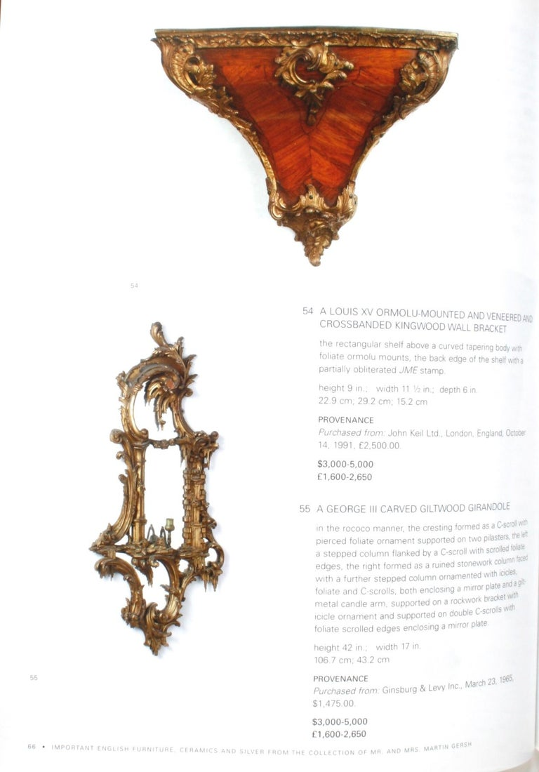 Sotheby's: The Collection of Mr. and Mrs. Martin Gersh, New York, Oct. 18, 2006 For Sale 8