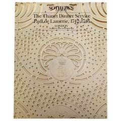 Sotheby's The Thanet Dinner Service Paul de Lamerie, 1742-1746 London 1st Ed
