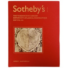 Sotheby's The Wardington Library, Important Atlases and Geographies, Part 1 A-K