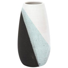 Sottsass Bitossi Vase Ceramic White Green Black Signed