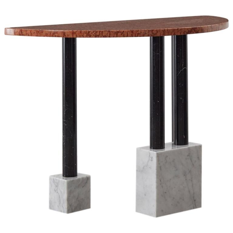 Sottsass Demilune Marble Console for Ultima Edizione, Italy, 1980s