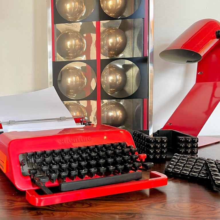 Post-Modern Sottsass for Olivetti Valentine Typewriter For Sale