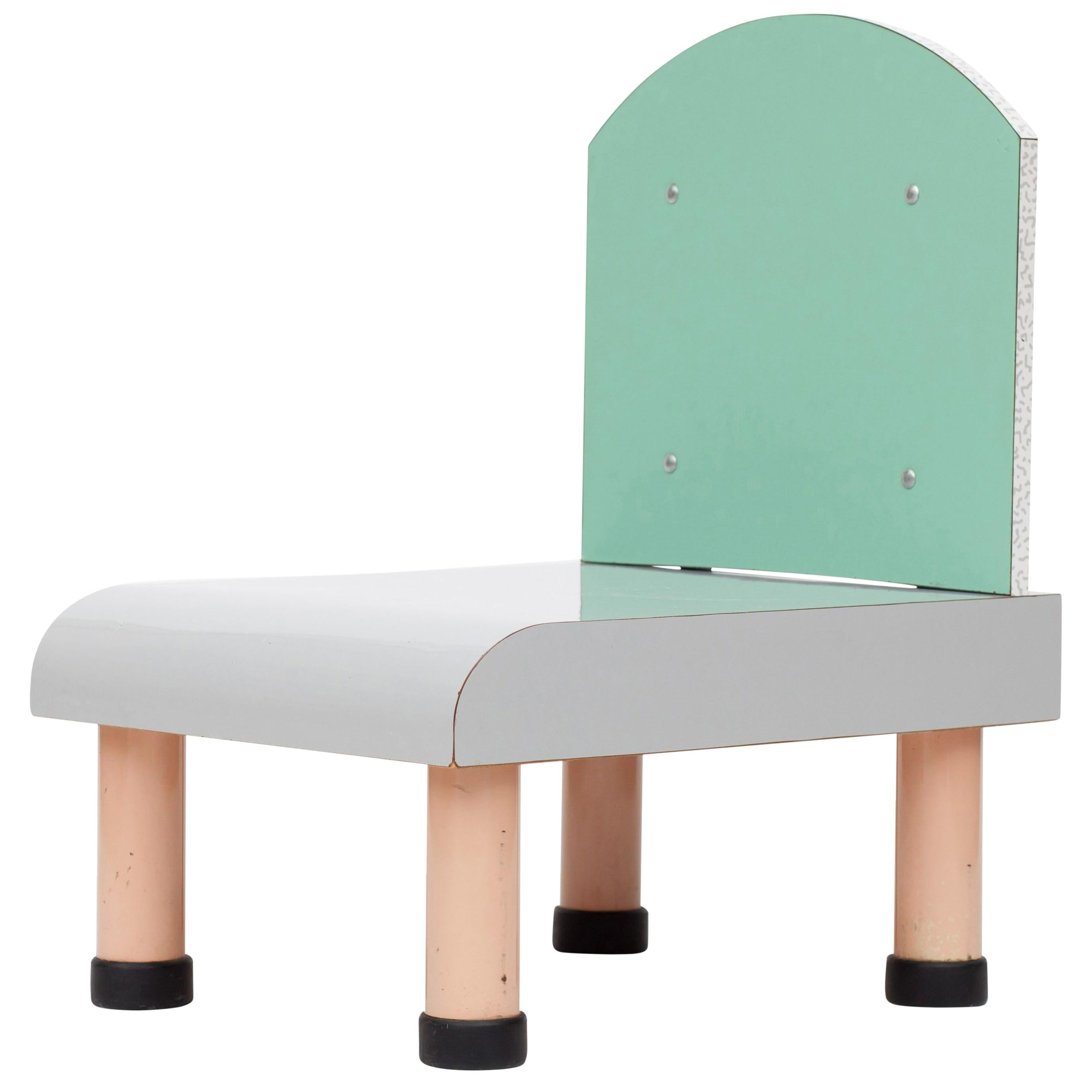 Sottsass Style Memphis Chair, Italy, 1980s