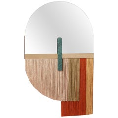 Wall Mirror Decorative Souk Red