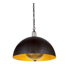 Soundlight 1 Large Ceiling Lamp with Gold Leaf