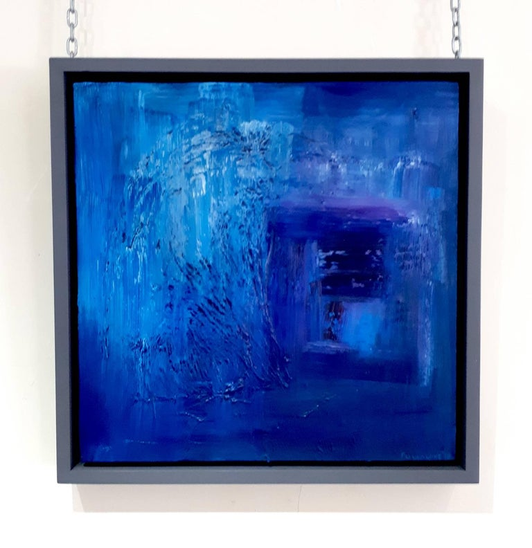A deep, rich and inviting piece from the studio of the acclaimed British artist Andy Fullalove.  Oil on canvas. Pristine condition. Framed in a contemporary grey wood slipper frame.