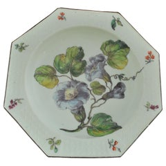 Soup Plate with Hans Sloane Type Painting, Chelsea, circa 1755