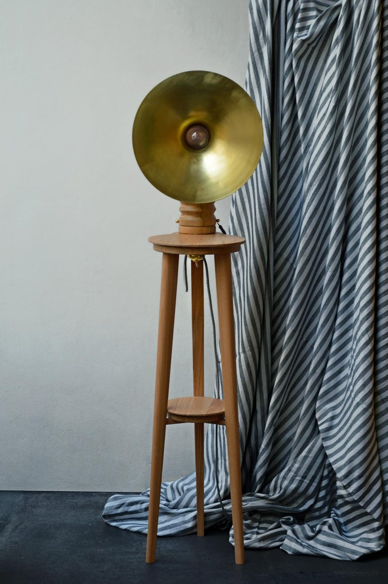 Sousaphone draws inspiration from the gleaming gramophones of the early 20th century and reinterprets them to illuminate spaces. Its brass or copper screen creates unique and soft reflections. Where social gatherings were once enlivened by the