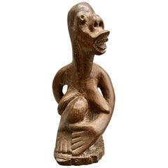 South African Tribal Carved Wooden Figure of Naked Lady by G. Tandi, circa 1960s
