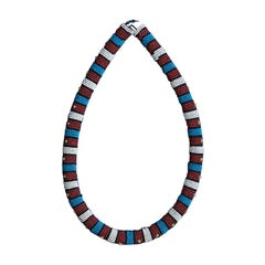 South African Zulu Beaded Collar Necklace, Early 20th Century