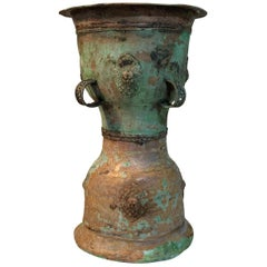 South Asian Bronze Rain Drum Table