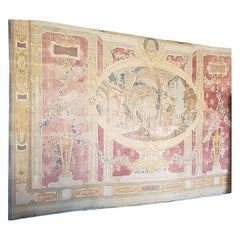 Antique French Canvas Tapestry
