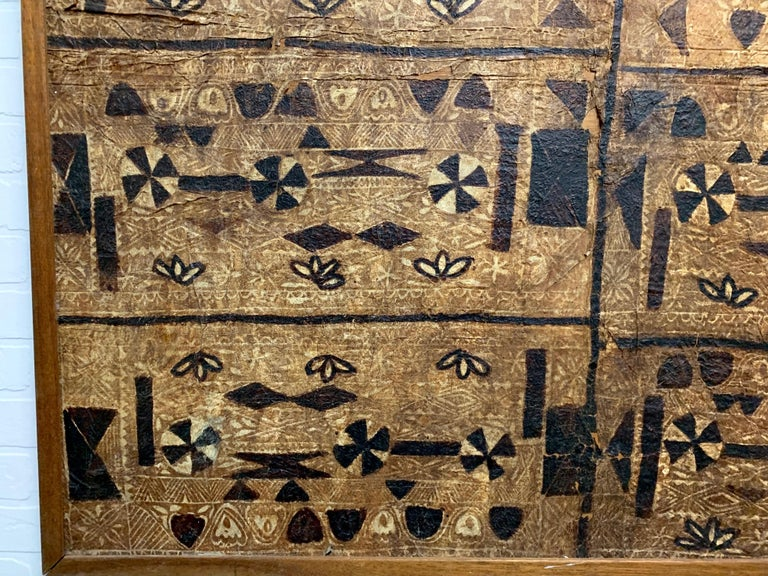 South Pacific Bark Cloth on Board For Sale 7