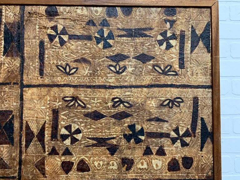 South Pacific Bark Cloth on Board For Sale 8