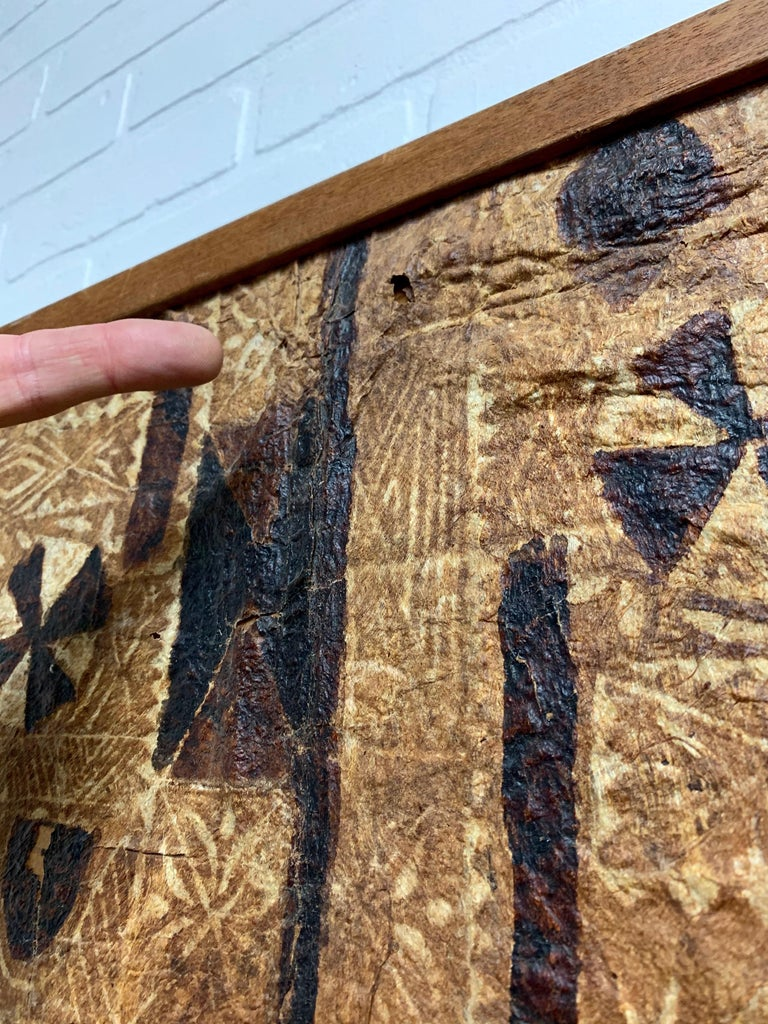 South Pacific Bark Cloth on Board For Sale 9