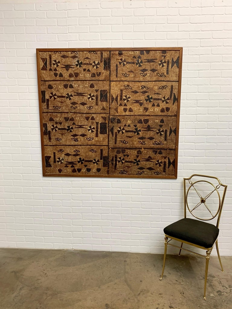 South Pacific Bark Cloth on Board For Sale 1