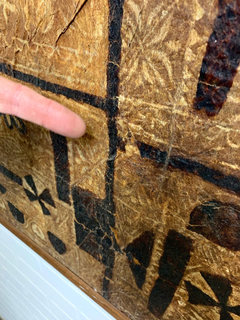 South Pacific Bark Cloth on Board For Sale 3