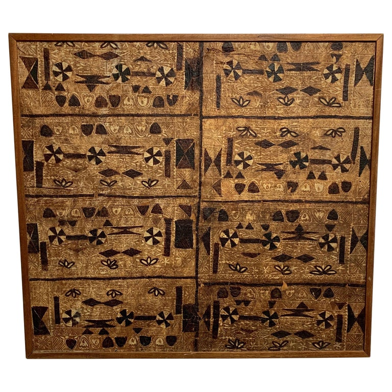 South Pacific Bark Cloth on Board For Sale