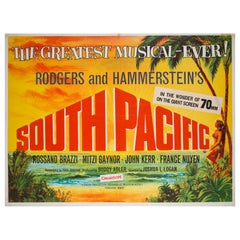 'South Pacific; R1960s UK Quad Film Poster, Chantrell