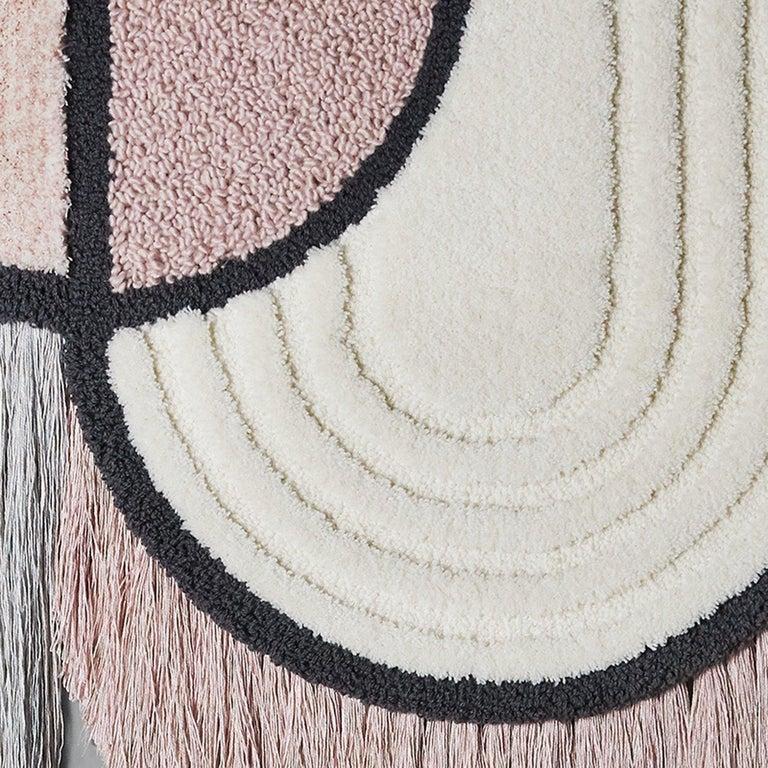 Swedish South Pole Wall Hanging, Wool Fringes Brass Geometric, Lara Bohinc for Kasthall For Sale