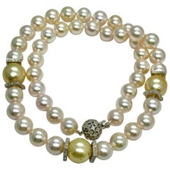 South Sea Akoya Pearl Necklace 14k Gold Certified