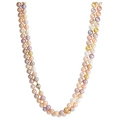 South Sea and Freshwater Pearl Necklaces with Mystery and Diamond-Set Clasps