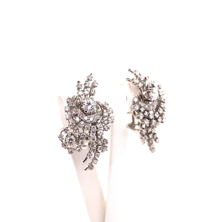 South Sea Cultured Pearl and Diamond Earclips by Bucherer in 18 Karat White Gold For Sale 4