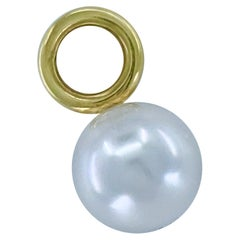 South Sea Cultured Pearl Fob Charms or Pendants in 18 Karat Yellow Gold